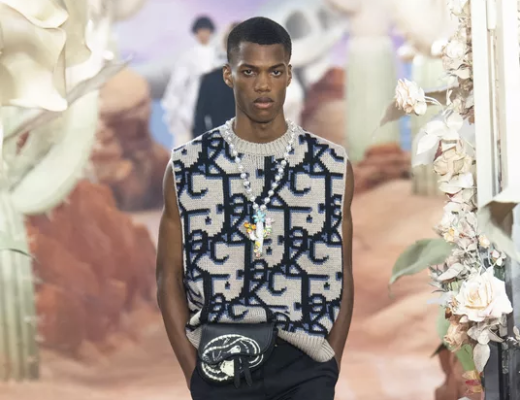 Look from Dior Homme's Spring-Summer 2022 collection