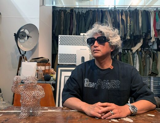 portrait of mihara yashuhiro in his atelier for his conversation with